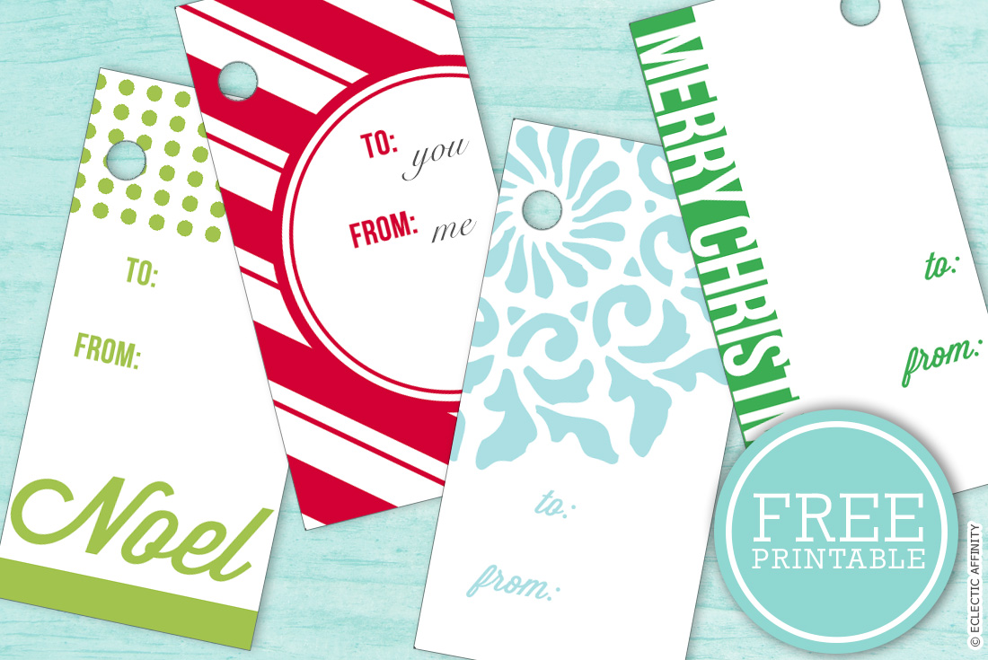 Christmas Tags — free printable at Eclectic Affinity