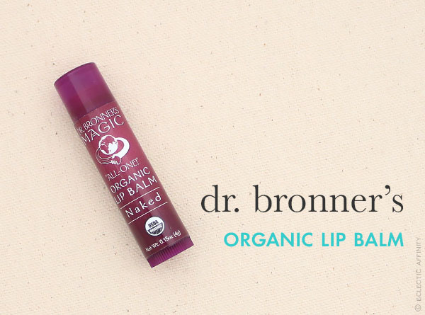 Dr. Bronner's Organic Lip Balm — a favorite find on Eclectic Affinity