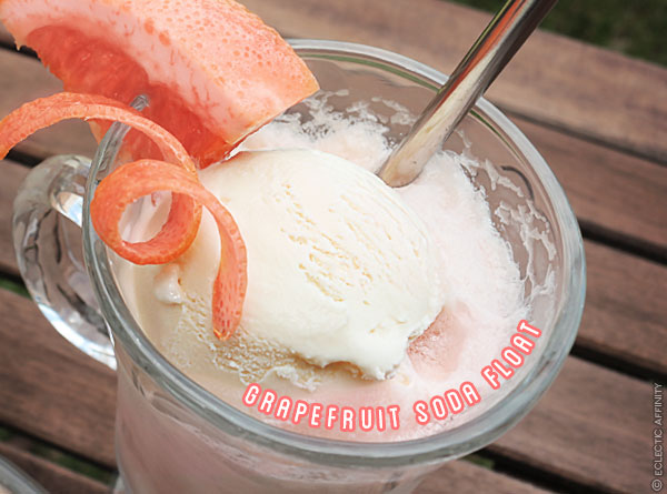 Grapefruit Soda Floats | Eclectic Affinity