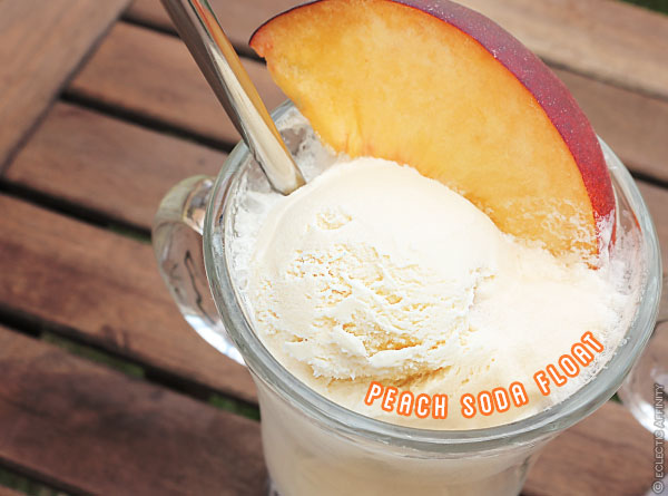 Peach Soda Floats | Eclectic Affinity